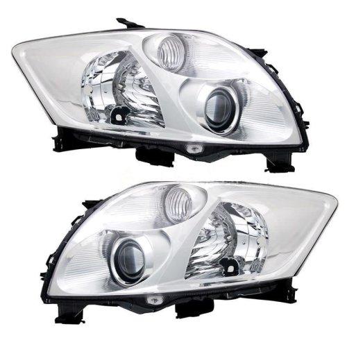 Toyota Auris 2007-8/2010 Headlights Headlamps 1 Pair O/s & N/s
