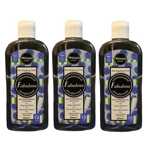 Fabulosa Blue Raspberry Ovals Disinfectant Concentrated 220 ml Vegan