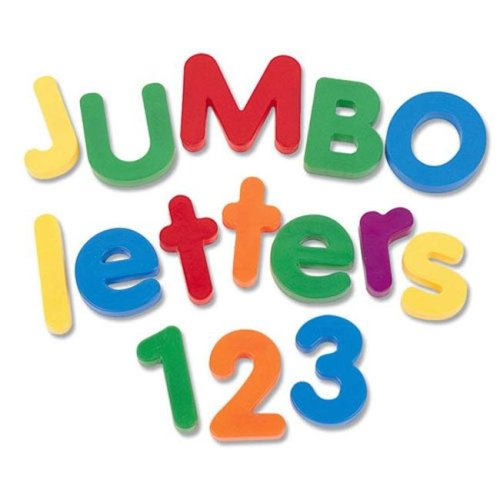 LEARNING RESOURCES LER0452 JUMBO MAGNETIC NUMBERS/OPERATIONS-36/PK 2-1/2 BUCKET