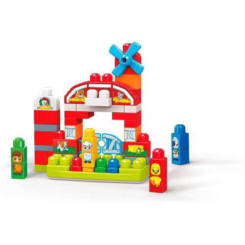 Mega Bloks GCT50 Musical Farm Preschool, Building Toy with Sounds and Songs, Multicolour
