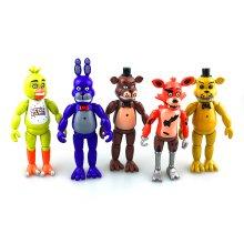 5Pcs/Set Five Nights At Freddy's FNAF - 5.5'' Action Figures Light Toys Gifts
