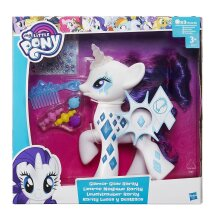 Electronic My Little Pony Glamour Glow Rarity Lights Up Cutie Mark Magic Figure Toy