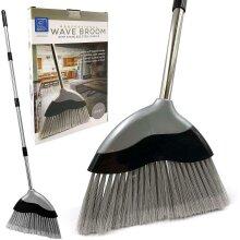 Soft Indoor Broom Long Handled Sweeping Wave Brush Bristle Kitchen