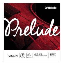 D'Addario Prelude Violin String Single E String J811 4/4 Scale Light Tension