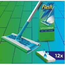 Flash Speedmop Starter Kit - 1 Speed mop + 12 Mopping Cloths Refills