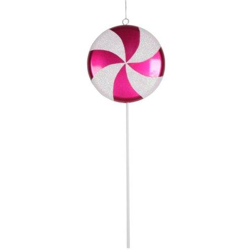 Vickerman M152015 Cerise & White Lollipop Candy Ornament, 17 in.