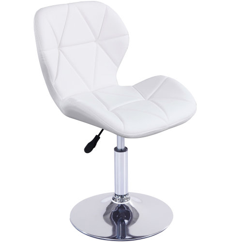 (White) Charles Jacobs Small Swivel Chair | Home Office Furniture