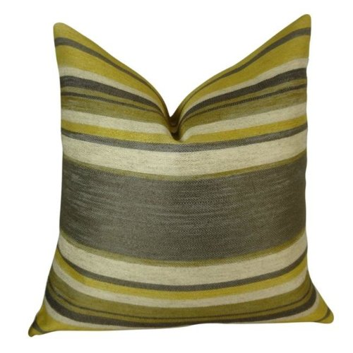 Plutus PB11269-2036-DP 20 x 36 in. Double Sided King Size Ocosingo Zest Handmade Throw Pillow - Gray, Citrine & Ivory