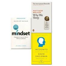 Why We Sleep Matthew Walker,Mindset Carol Dweck 3 Books Collection Set