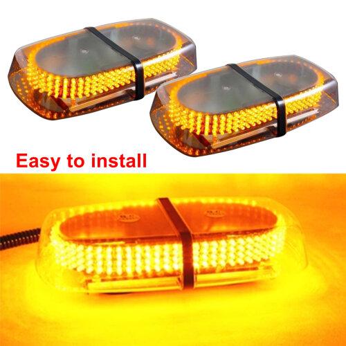 240LED Amber Warning Strobe Light Recovery Car12V Flashing Magnetic Beacon Light