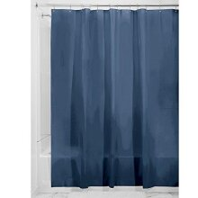 iDesign 3.0 Liner Shower Curtain, Curtain for Shower, Made of Mould-Free PEVA, Navy Blue, 183 cm X 183 cm