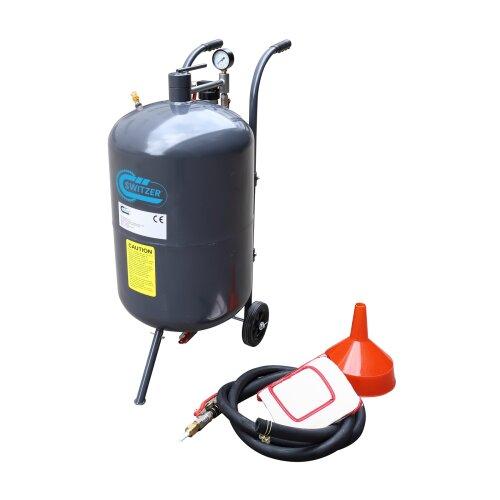 Switzer Portable Sand Blaster - 76L 20 Gallon Mobile Sand Bead Blasting Gun Incl
