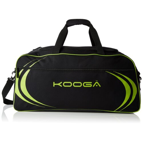 Kooga Men's Essentials Kit Bag-Black/Lime, One Size