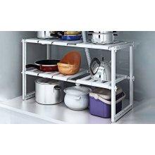 Vinsani Under sink 2 Tiers Expandable Kitchen Storage