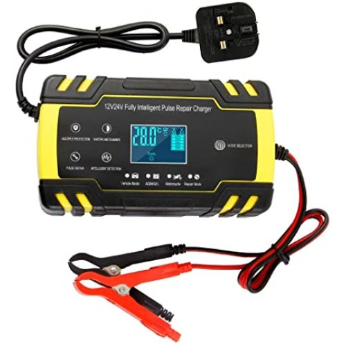 12V 24V Automatic Battery Charger Maintainer for Cars Motorcycles Boat