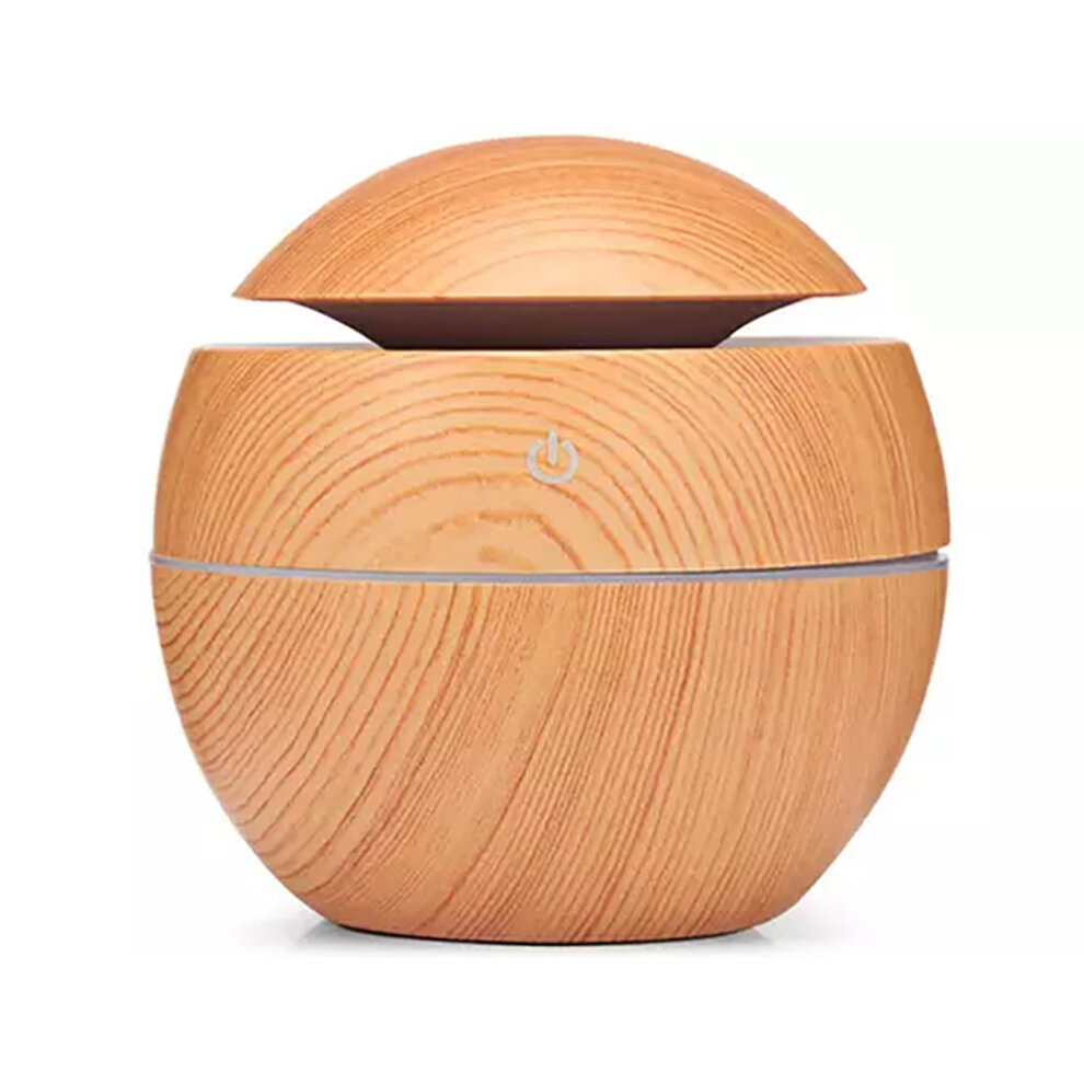 Wood Skin Color Essential Oil Diffuser, 130ml Aromatherapy Fragrance Diffuser & Ultrasonic Cool Mist Room Humidifier