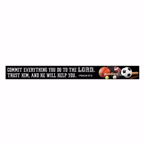 CB Gift 143099 7.5 x 0.75 in. Magnet-Scripture Strips-Commit Everything