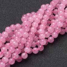 Rose Quartz Beads Plain Round 6mm Strand of 60+