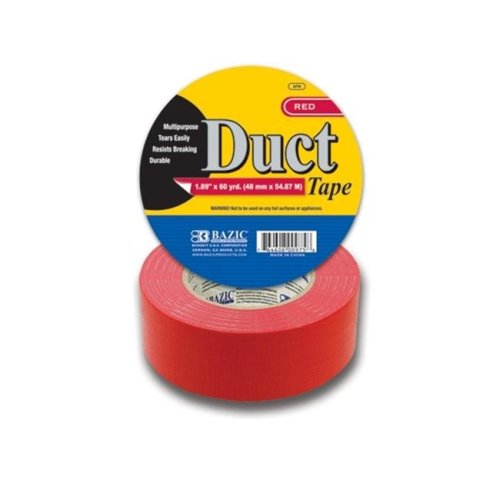 12 BAZIC 1.88 inch X 60 Yards Red Duct Tape Pack oF