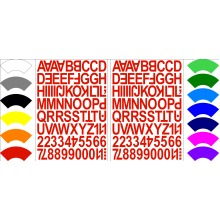 Alphabet Letters & Numbers Stickers Label Peel Off Sticky 2.5cm High Mixed