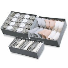 3pcs Foldable Underwear Bra Fabric Socks Box Storage Organizer Drawer Dividers