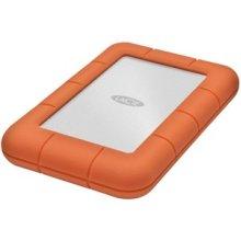 Lacie Rugged Mini 2 Tb Hard Drive External Portable Usb 3.0 5400Rpm Orange LAC9000298