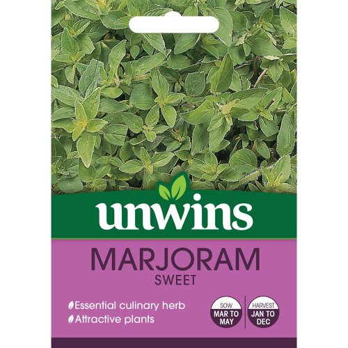 Unwins Grow Your Own Marjoram Sweet Essential Culinary Herb Seeds