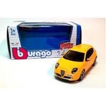 New Burago 1/43 Diecast Model Car - Alfa Romeo Mito in Yellow - Burago 'Street Fire' Range