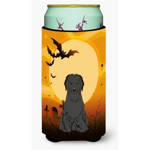 Halloween Briard Black Tall Boy Beverage Insulator Hugger