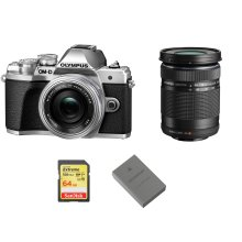 OLYMPUS E-M10 III+ 14-42mm+40-150mm +SanDisk Extreme 64G SD+BLS-50