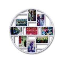 Umbra Luna Nine-Opening Collage Frame/Wall Decor, White