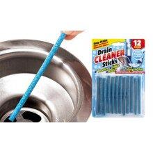 12 Piece Set Of Magic Drain Cleaner Sticks