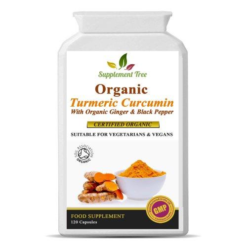 Organic Turmeric 700mg , Ginger 50mg & Black Pepper 5mg - 120 Capsules