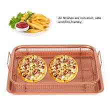 Copper Crisper Non-Stick Oven Mesh Baking Tray Chips Crisping Basket