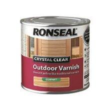 Ronseal Crystal Clear Outdoor Varnish Matt 250ml