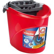 Vileda–Super-Easy Torsion Power Mop Bucket, Red