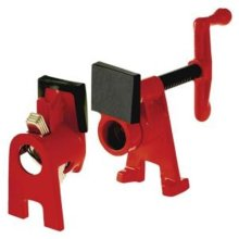Bessey PC34-2 0.75 in. Traditional Style Pipe Clamp, Black