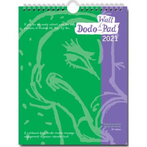 Dodo Wall Pad 2021 - Calendar Year Wall Hanging Week to View Calendar Organiser by Compiled by Naomi