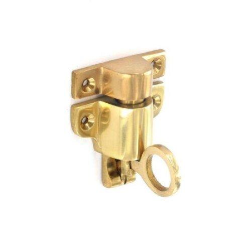 Solid Brass Fanlight Catch for Loft / Hatch