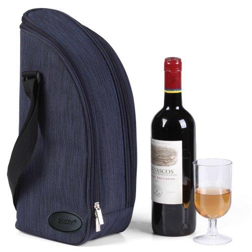 GEEZY 2 Person Insulated Denim Wine Bottle Cooler