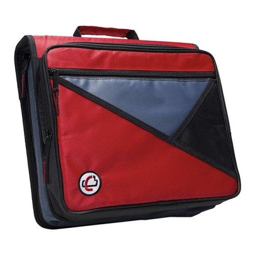 Universal Laptop Zipper Binder, O-Ring, 2 in. - Red