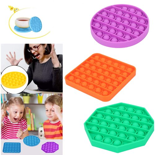 Push pop Bubble Sensory Fidget Toy Silicone Stress Reliever Toy