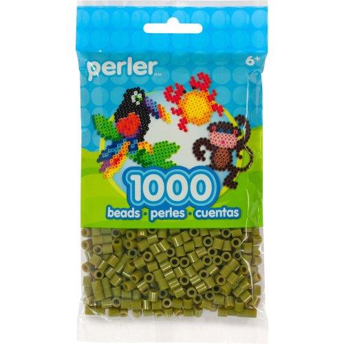 Perler Beads 1,000/Pkg-Olive
