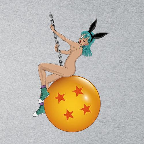 Bunny Ball Bulma Dragon Ball Z Nude Mens Sweatshirt