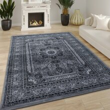 Grey Traditional Rug Vintage Oriental Style Large Small Soft Living Room Bedroom Woven Carpet Mat