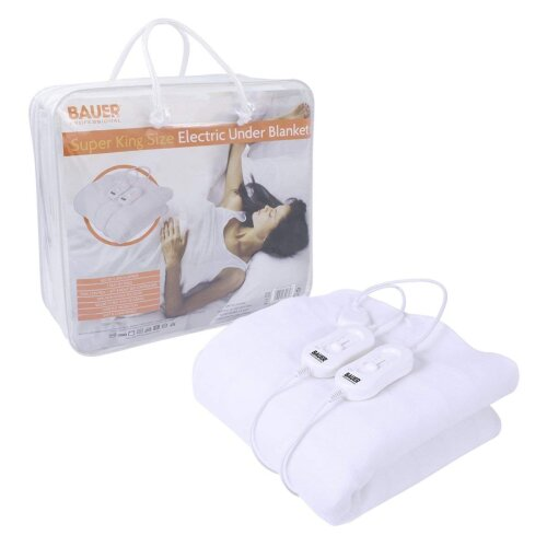 Bauer Super King Size Electric Under Blanket 3 Heat 150x200cm
