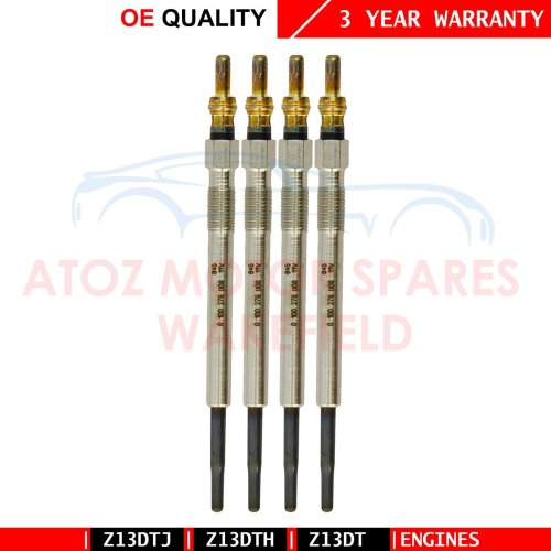 FOR VAUXHALL ASTRA H 1.3 CDTI x4 DIESEL HEATER GLOW PLUGS SET 93178047 Z13DTH