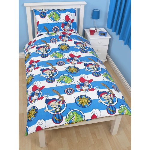 Disney Childrens/Kids Jake And The Never Land Pirates Doubloons Duvet Cover Bedding Set (Single & Double)
