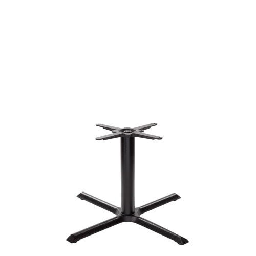 Black cruciform table base - Large - Coffee height - 480 mm
