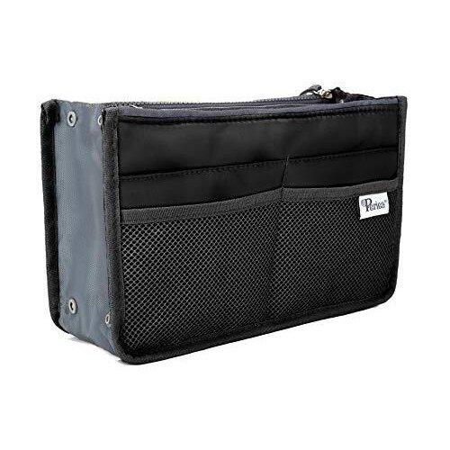 Periea® Handbag Organiser - Chelsy - 28 Colours Available - Small, Medium & Large (Black, Large)